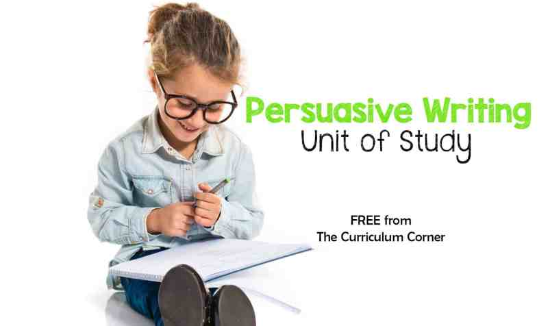 This free persuasive writing unit of study is designed to fit into your primary classroom writing workshop.