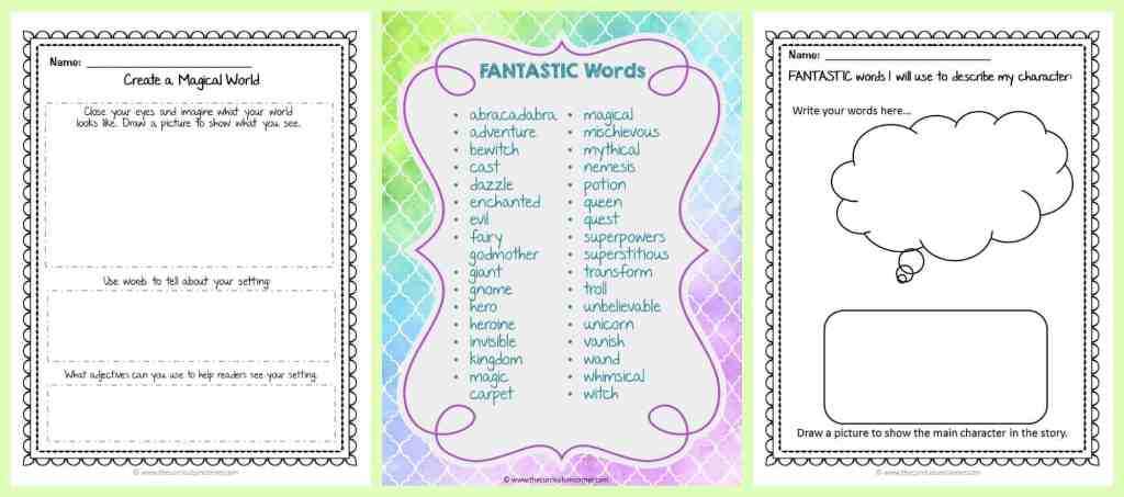 FREE Fantasy Writing Unit of Study from The Curriculum Corner   Writing Workshop