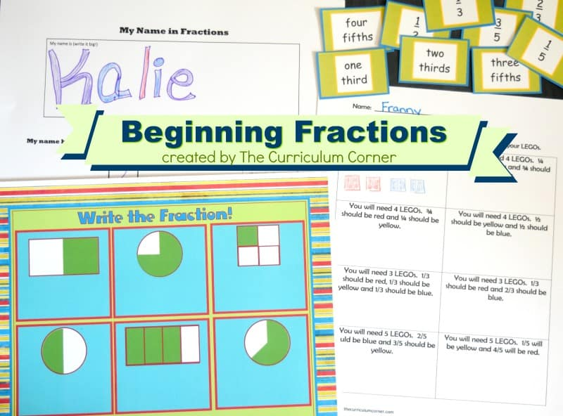 Our free beginning fractions activities have been created to help your students who are being introduced to fraction concepts.