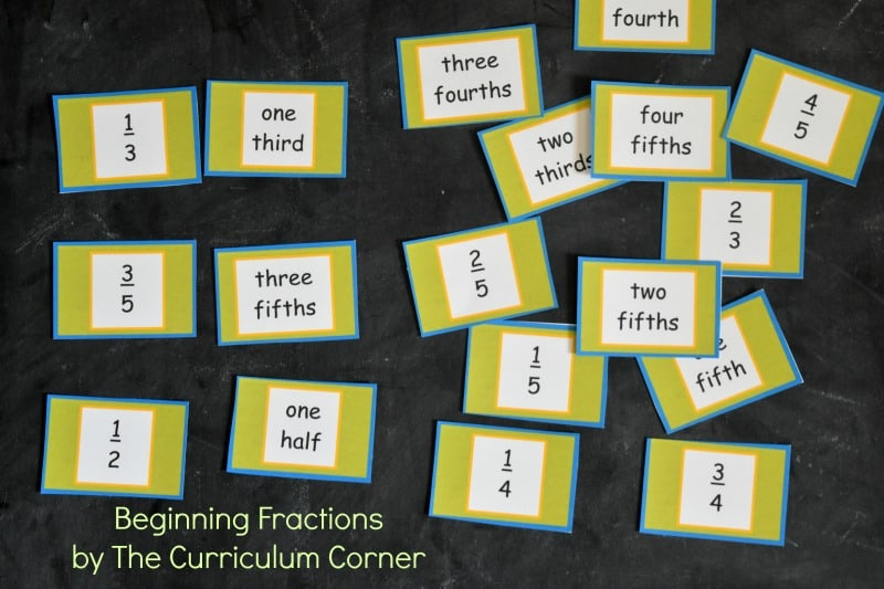Beginning Fractions from The Curriculum Corner 2