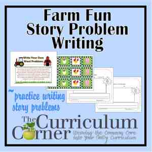Farm Fun Story Problem Writing Activity by The Curriculum Corner