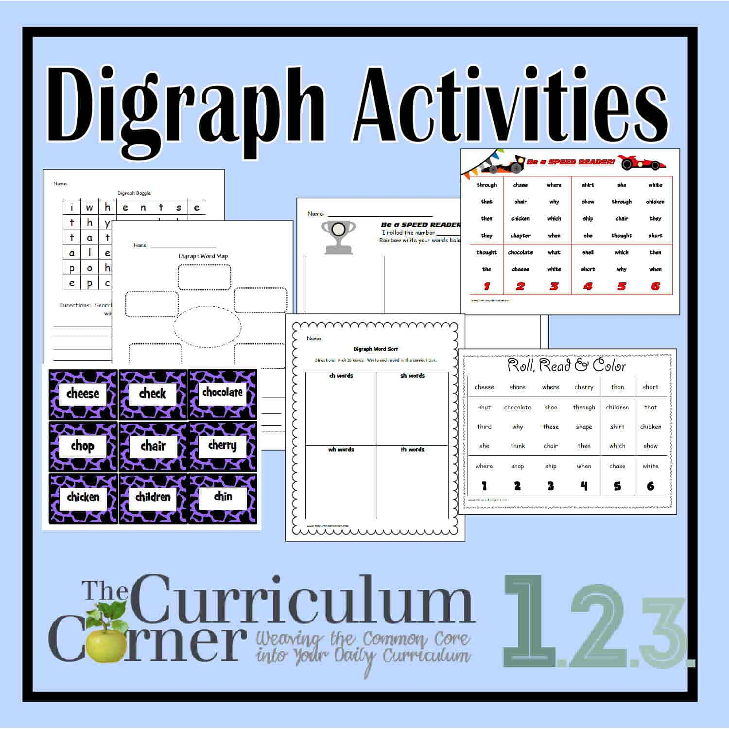 Consonant Digraph Activities The Curriculum Corner 123 – Consonant Digraphs Worksheets