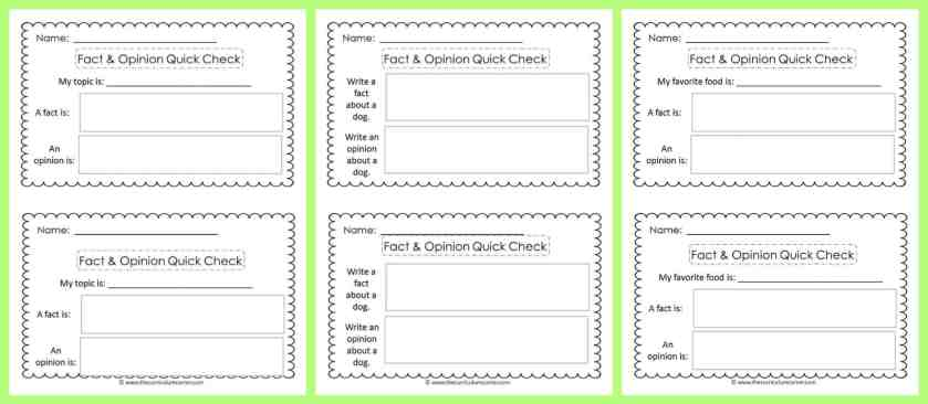 FREE Opinion Writing Unit of Study from The Curriculum Corner FREEBIE | blank books, mini-lesson & more | Fact & Opinion