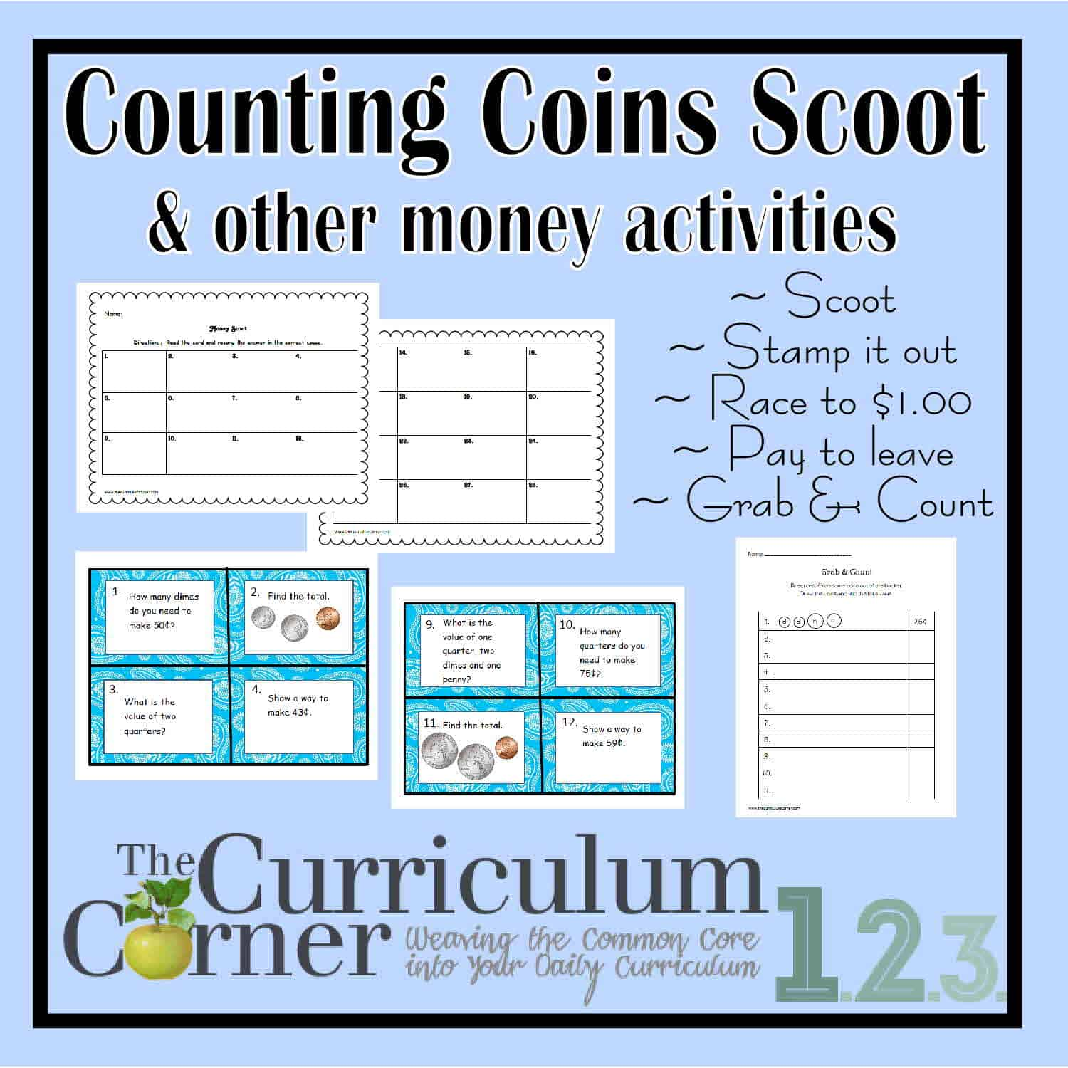 Counting Money Activities Set 2