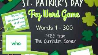 St. Patrick's Day Fry Word Game (1st 100 words)