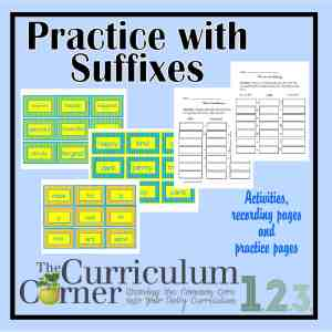 Practice with Suffixes by The Curriculum Corner FREE