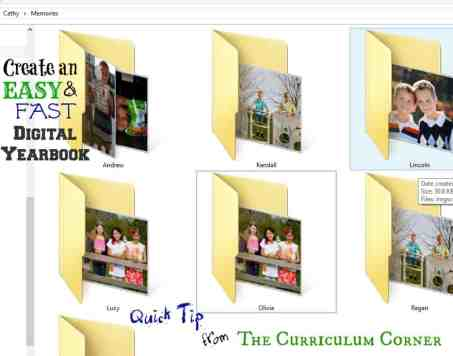 Create a fast & easy digital yearbook with this quick tip from The Curriculum Corner