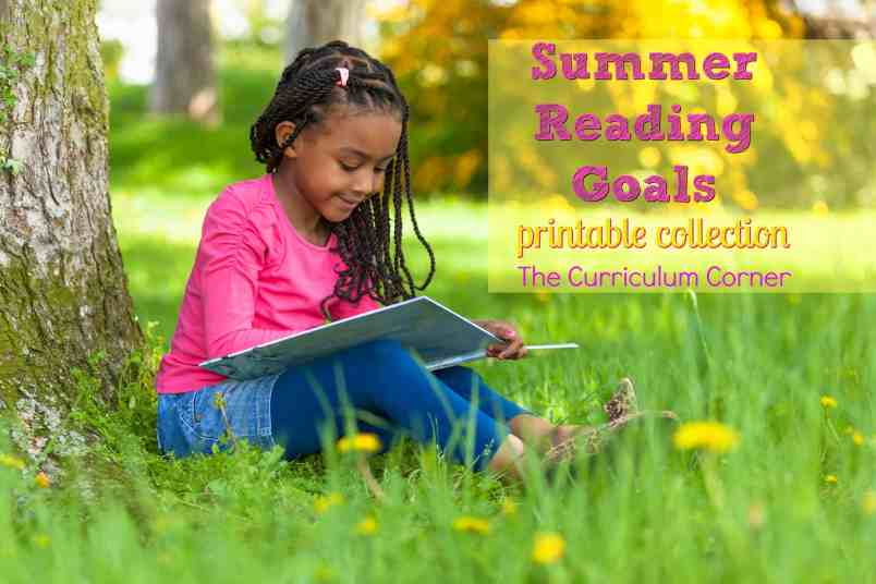 FREE Summer Reading Goals Printables from The Curriculum Corner