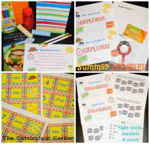 Summer Explorers Kit for Summer Fry Words, Number Cards & More