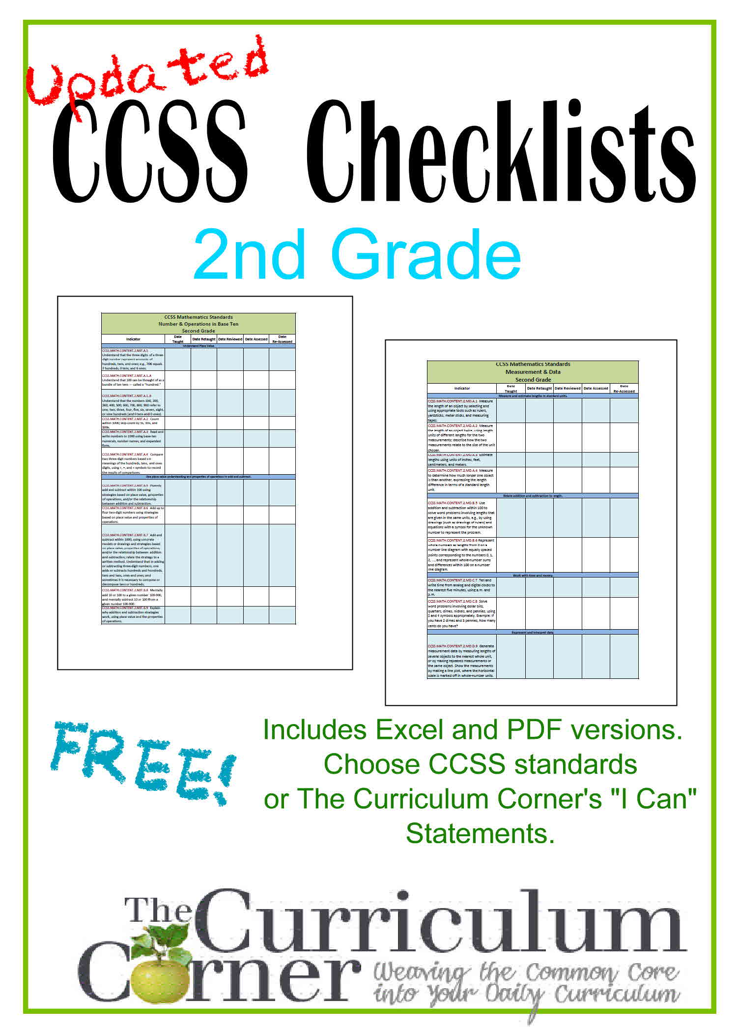 Updated 2nd Grade CCSS