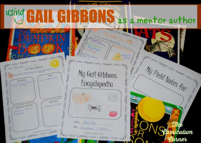 This collection of free resources for writing workshop is designed to help you create an author study on Gail Gibbons in your classroom (using Gail Gibbons as a mentor author.)