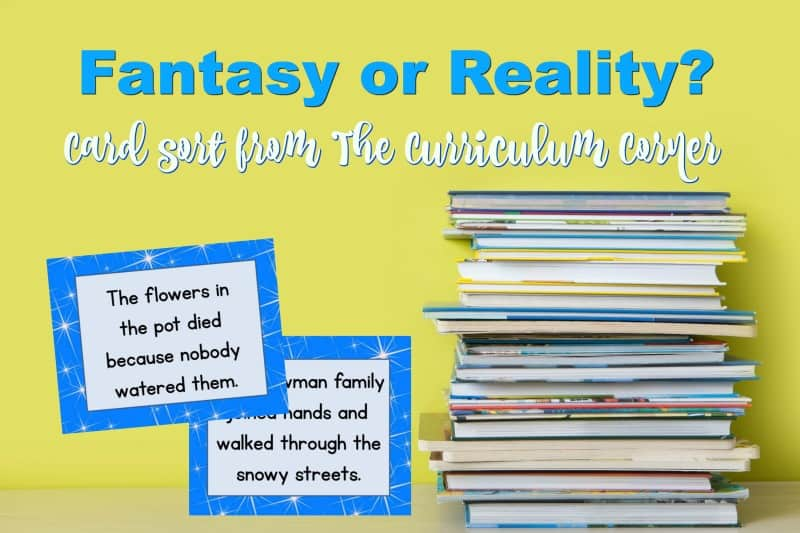 This free fantasy or reality card sort is a reading activity that will help your students differentiate between the two.