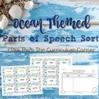 Ocean Themed Noun, Verb, Adjective Sort