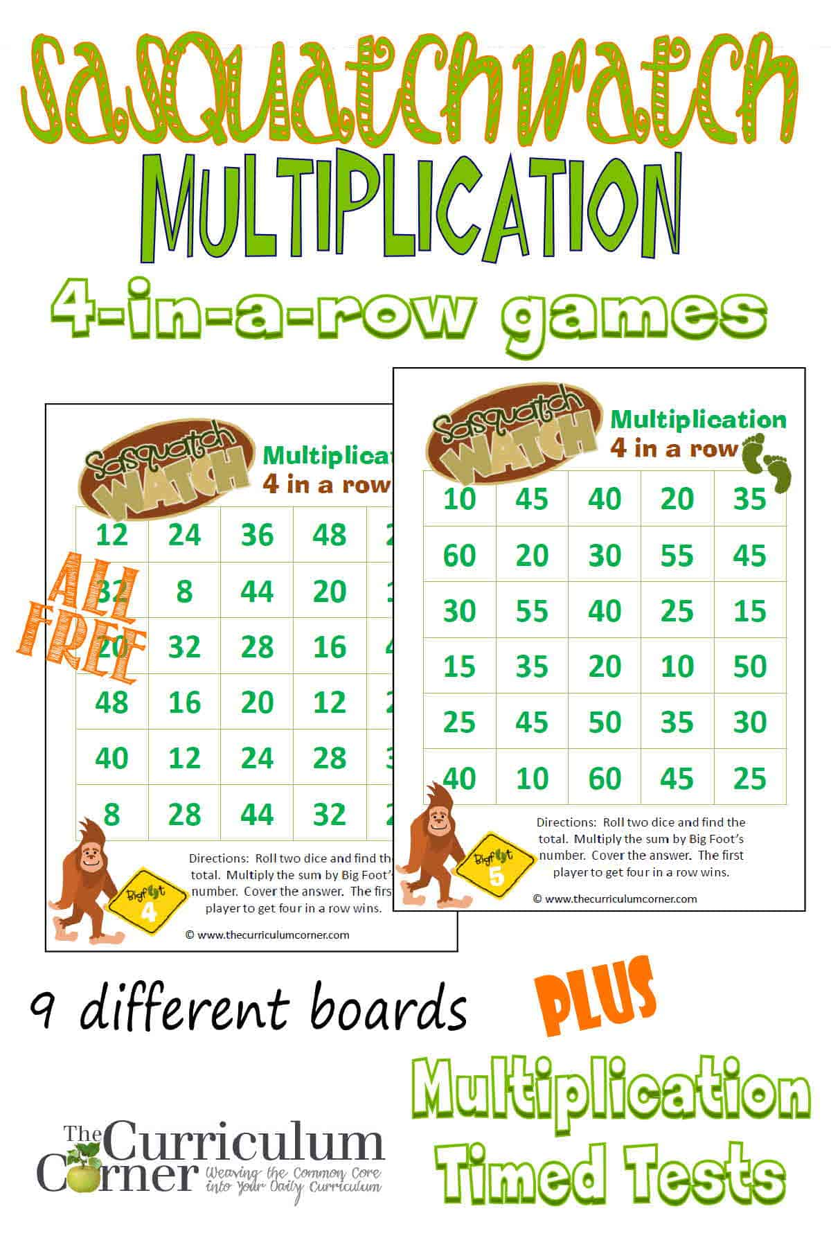 worksheet Multiplication Facts strategies to help students master multiplication facts the free big foot themed games from curriculum corner plus basic with multiplication
