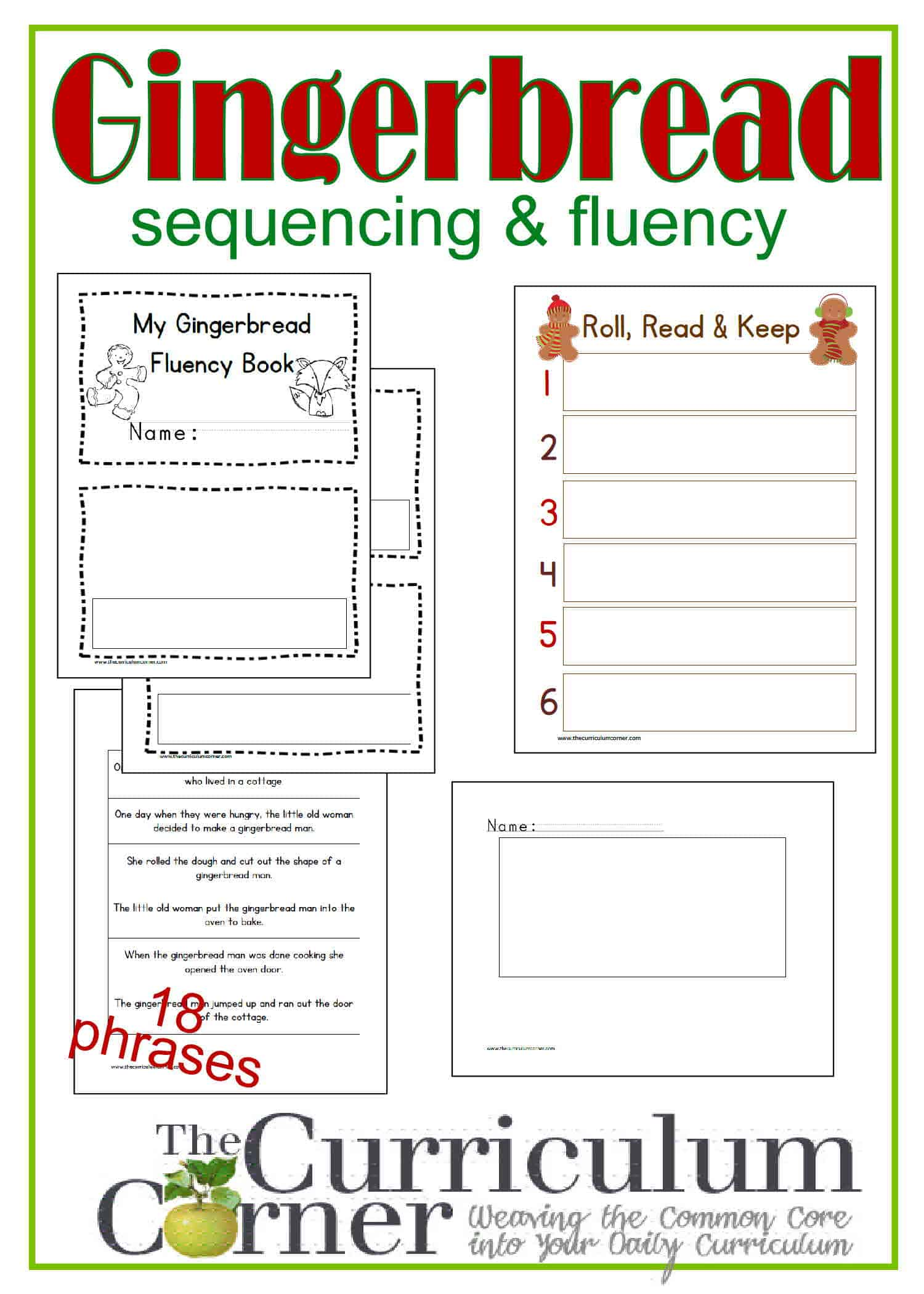 Sequencing Amp Fluency W The Gingerbread Man