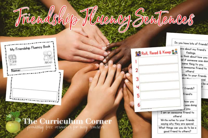 Download this collection of friendship fluency sentences as a fun literacy center to use for Valentine's Day.