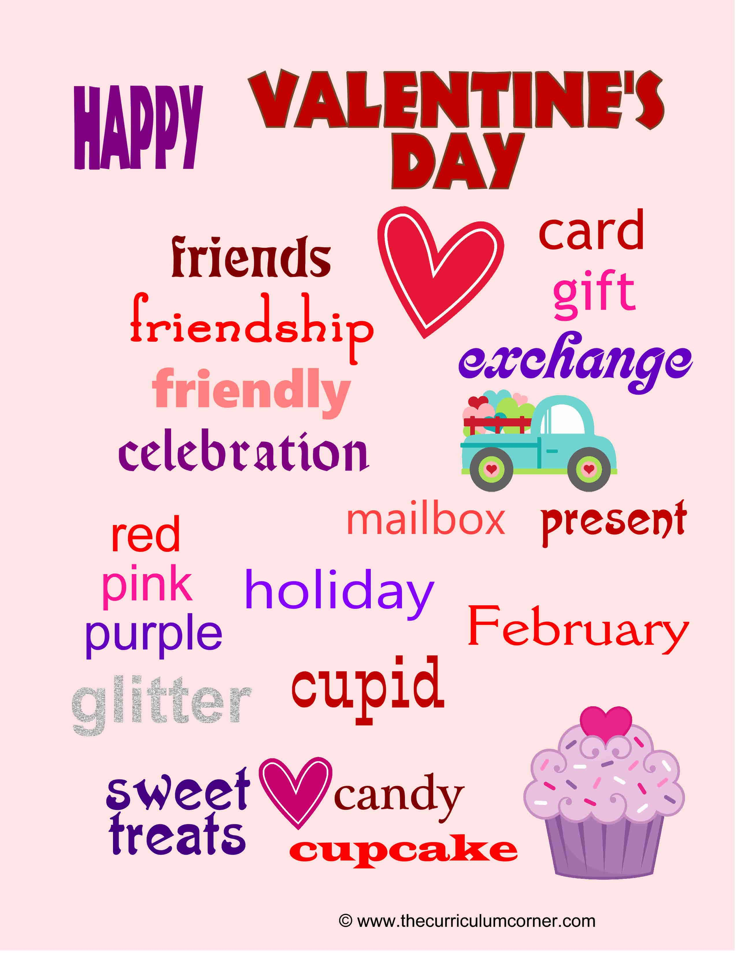 Valentine S Day Word Wall