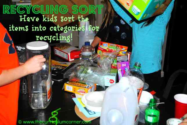 Recycling Sort - let students sort your recycling!