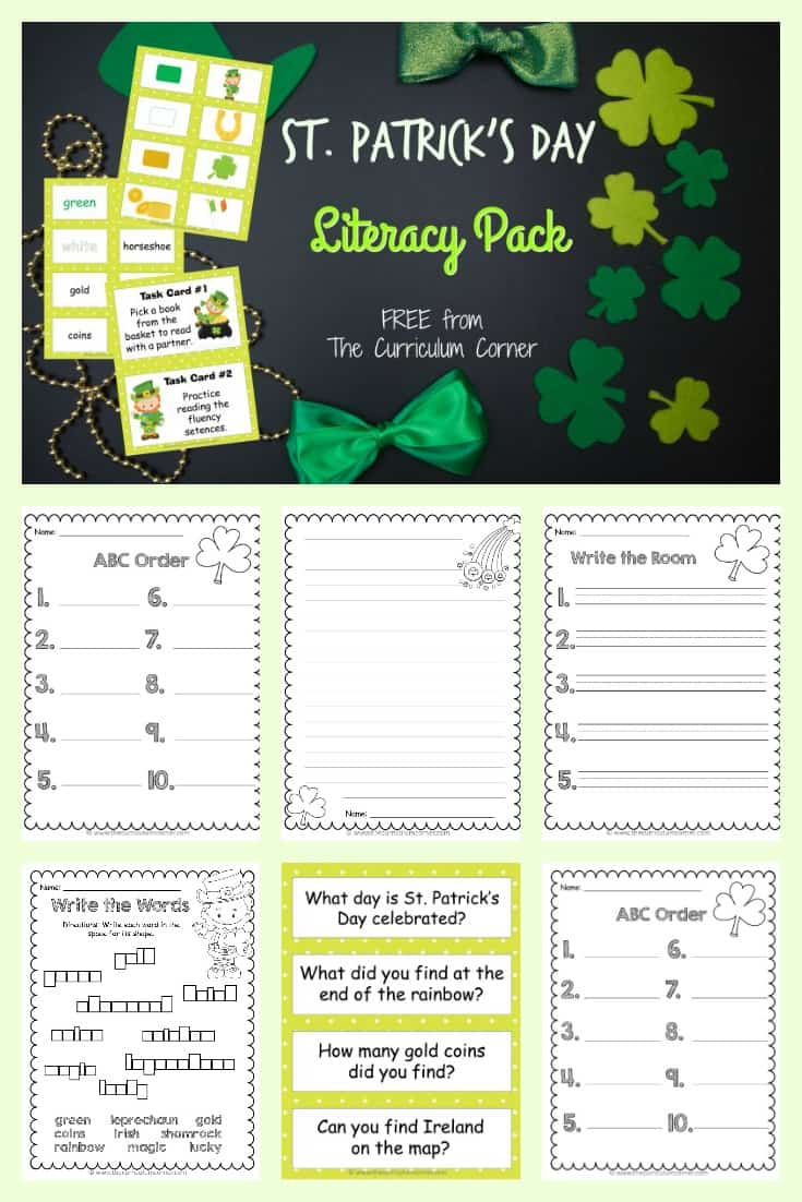 FREE St. Patrick's Day Word Work Set from The Curriculum Corner