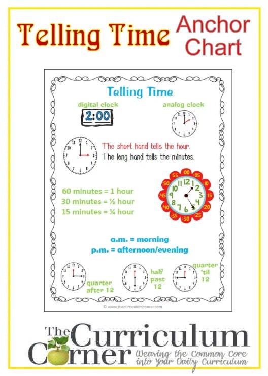 curriculum corner informational writing anchor