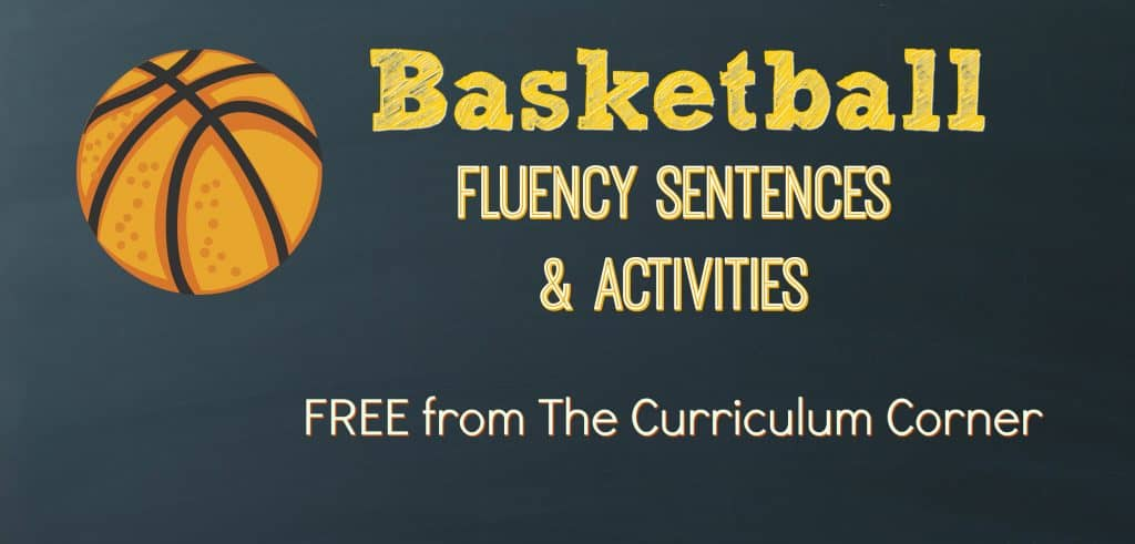 FREE Basketball Fluency Practice from The Curriculum Corner | Literacy Centers