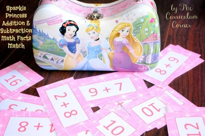 Creating the perfect educational Disney Princess Easter basket | Princess Bump | Princess Fry Words | Sparkle Math Facts | The Curriculum Corner