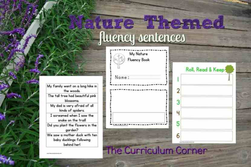 FREE Nature Fluency Sentences from The Curriculum Corner