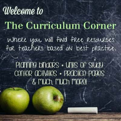 Welcome to The Curriculum Corner
