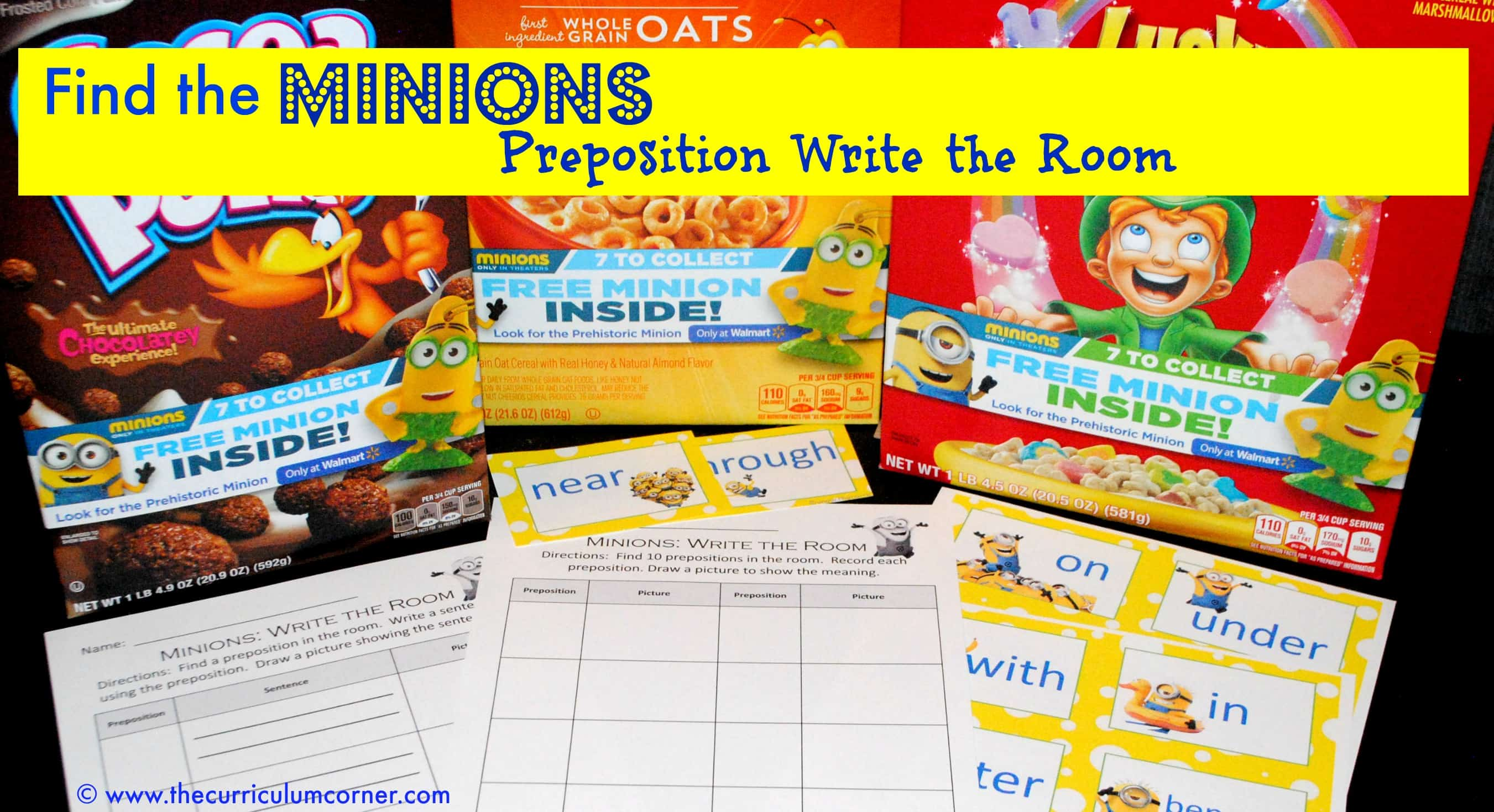 Find the Minions: Preposition Write the Room - The Curriculum ...