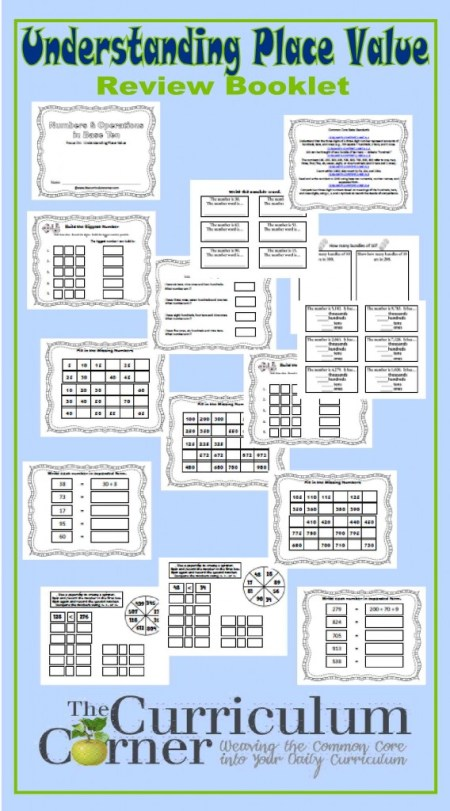 Understanding Place Value 2nd Grade Practice Booklet - 18 pages, designed to meet CCSS 2nd grade FREE from The Curriculum Corner