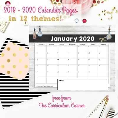 Free Teacher Calendar Pages