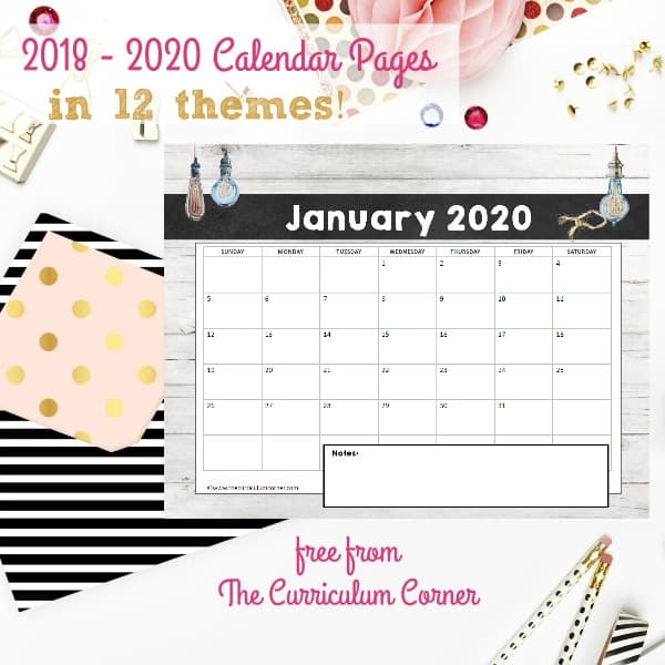 FREE Calendar Pages
