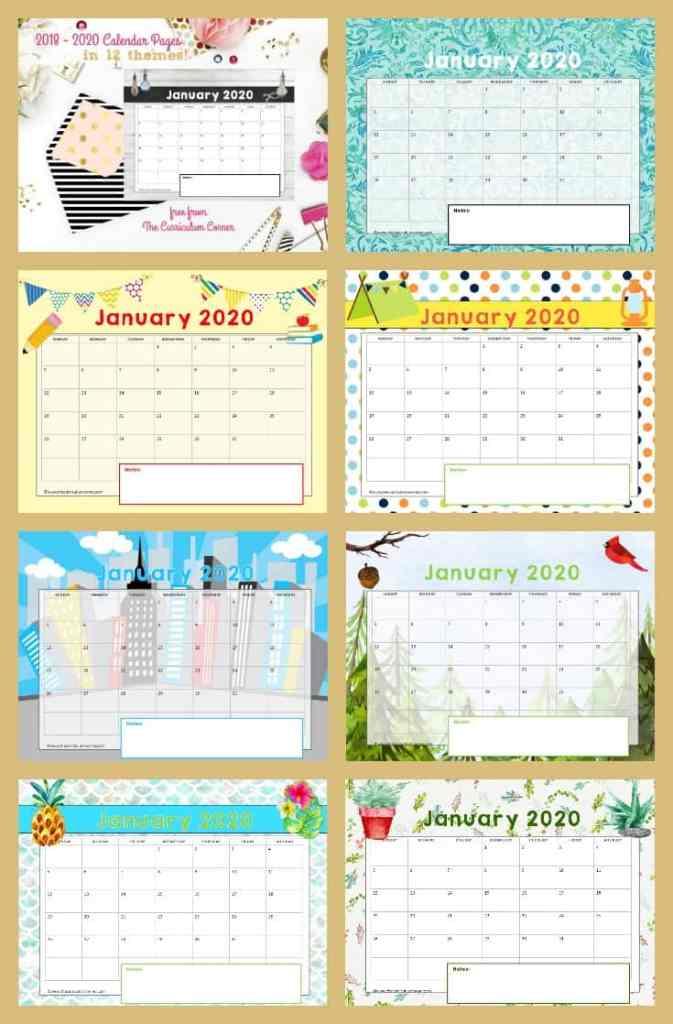 FREE Teacher Planning Binder Calendar Pages from The Curriculum Corner