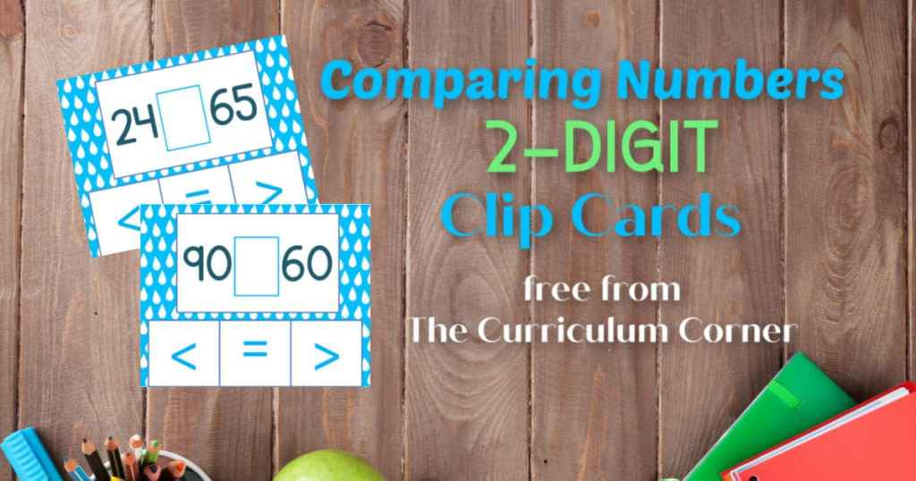 Comparing Numbers Clip Cards