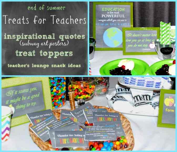 These subway art posters for teachers and treat toppers are a great addition to any end of year teacher celebration.