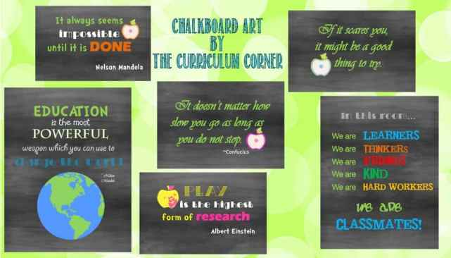 Chalkboard Subway Inspirational Quotes for Teachers | Treat Toppers for Teachers | Treat Ideas from The Curriculum Corner
