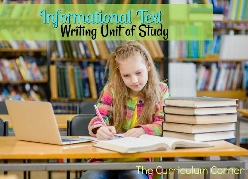 Informational Text Writing Unit of Study - The Curriculum