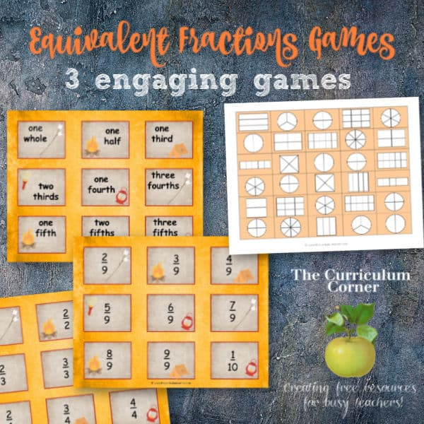 This is a photo of Equivalent Fractions Games Printable with regard to step by step