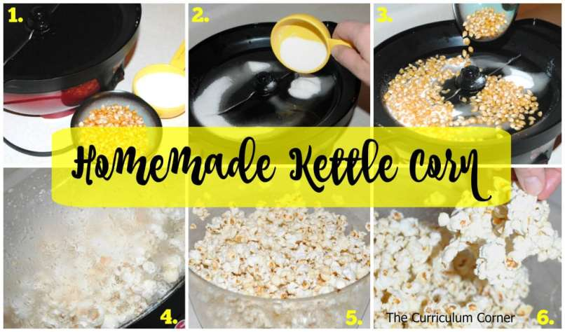 homemade kettle corn recipe for an electric popper - so simple and tastes just like it's from the fair!