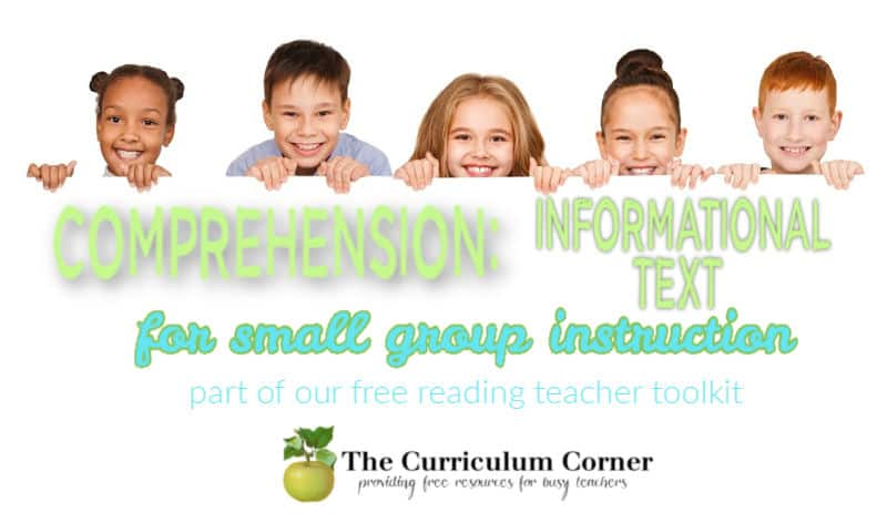 informational text comprehension