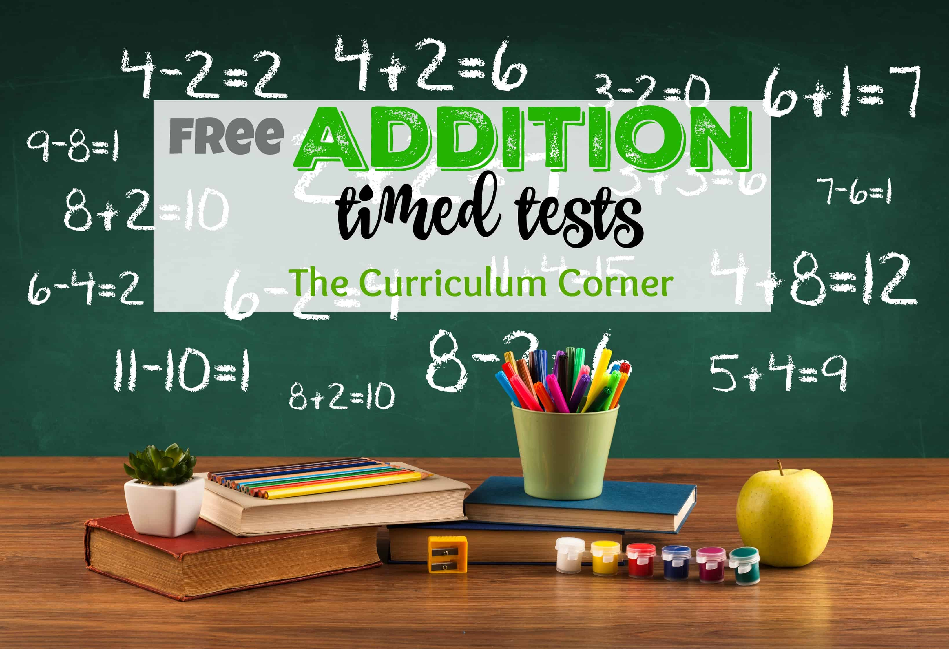 UPDATED Addition Timed Tests The Curriculum Corner 123 – Addition Timed Test Worksheet