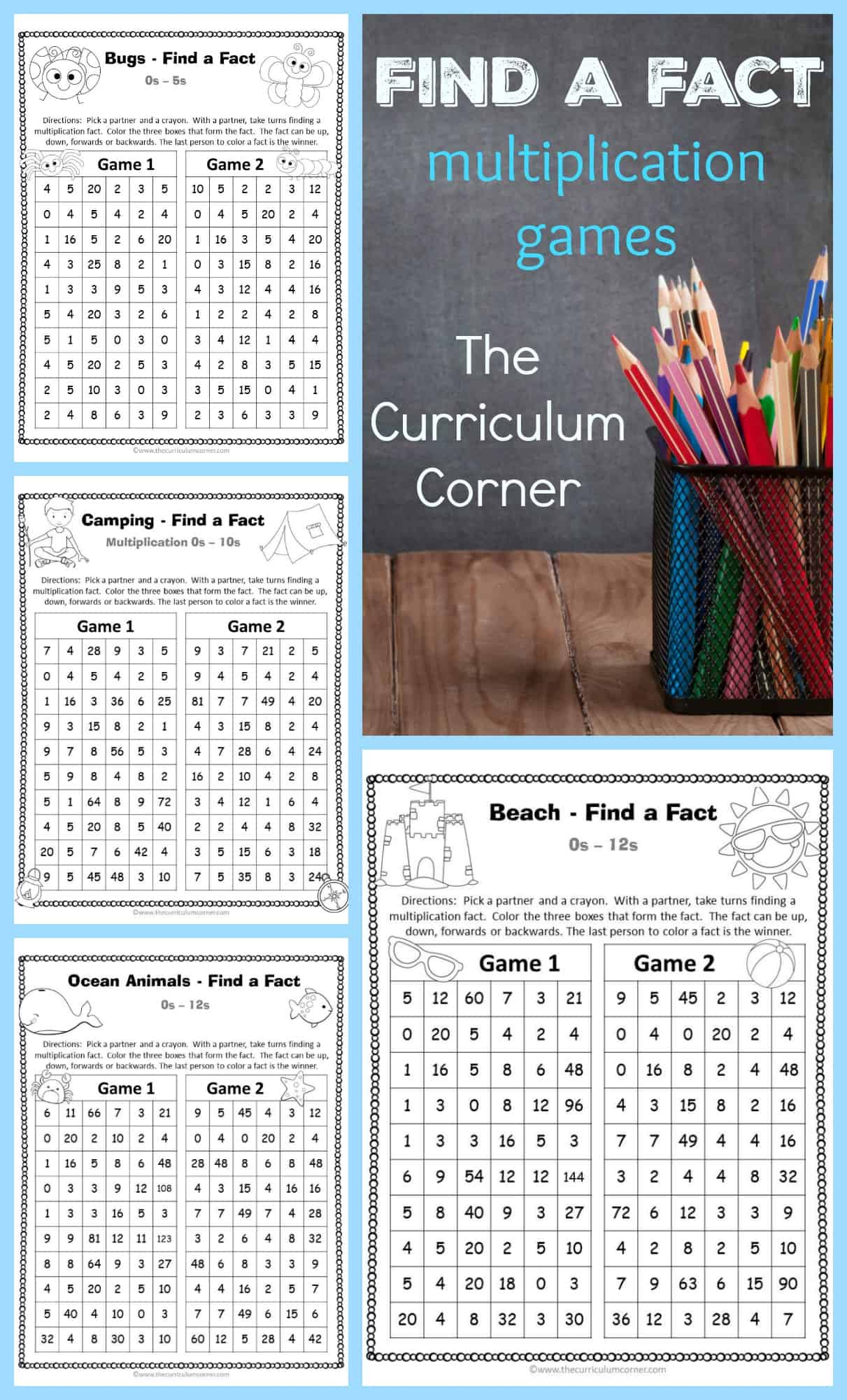 It's just a picture of Gargantuan Multiplication Facts Games Printable