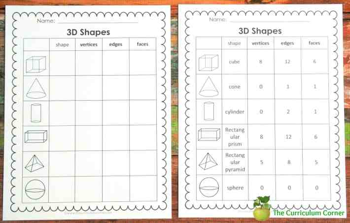 FREE 2nd Grade Geometry Collection from The Curriculum Corner - task cards, booklet, chart, poster