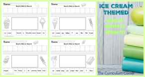 Ice cream themed read it, write it, draw it literacy center FREE from The Curriculum Corner