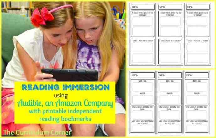 Editable Bookmarks for Independent Reading free from The Curriculum Corner