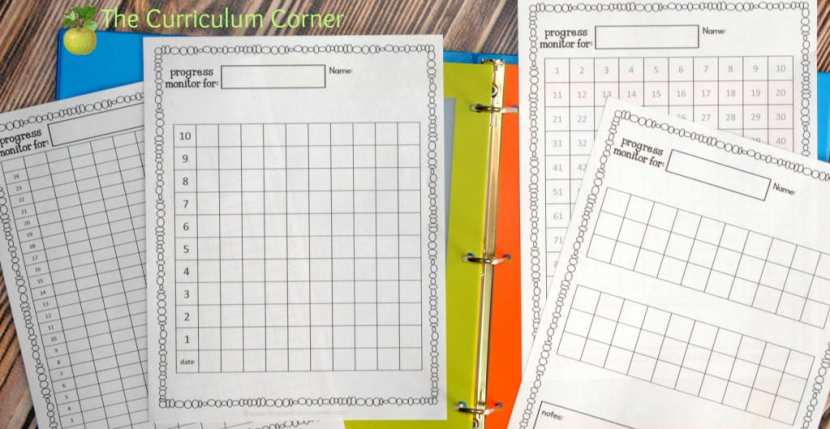 FREE Editable Student Data Binder from The Curriculum Corner with an Assortment of Data Tracking Printables