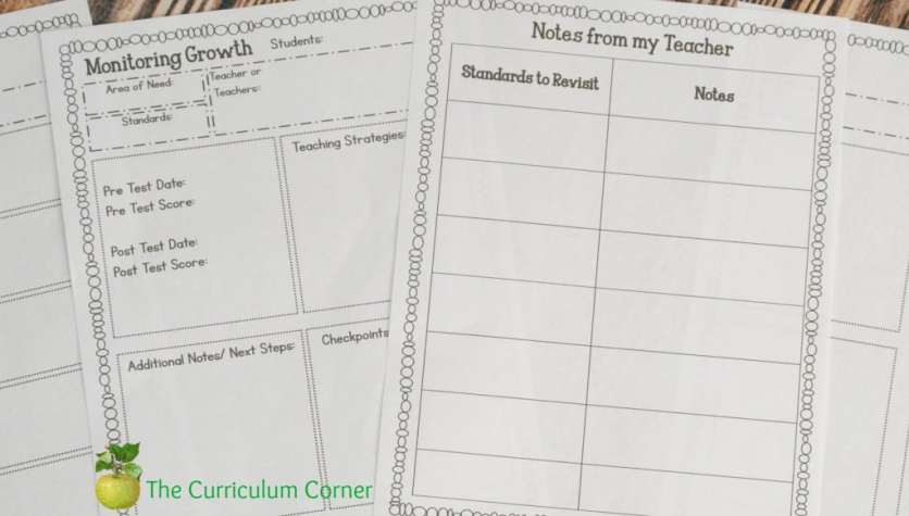 FREE Editable Student Data Binder from The Curriculum Corner with 60 Pages!!!