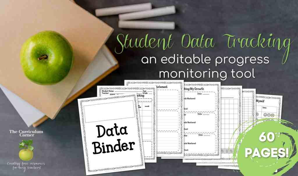 Student Data Tracking The Curriculum Corner 123