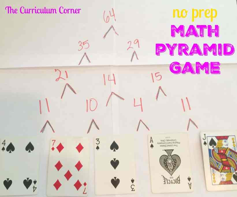 Mental Math Pyramid Game | The Curriculum Corner