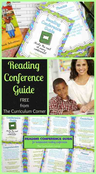 FREE Resource! Reading Conference Guide for teachers new to conducting reading conferences - The Curriculum Corner